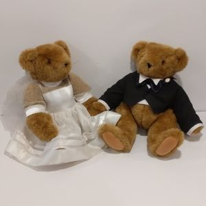 Vermont Teddy Bear Co bride and groom plush bear